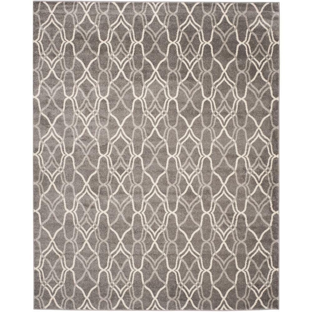 Amherst Gray/Light Gray 10 ft. x 14 ft. Indoor/Outdoor Area Rug