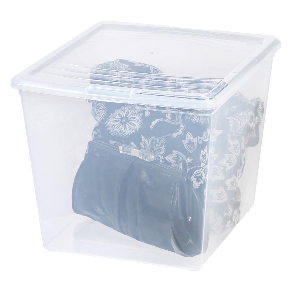 Attractive 34 Qt. Modular Storage Box In Clear