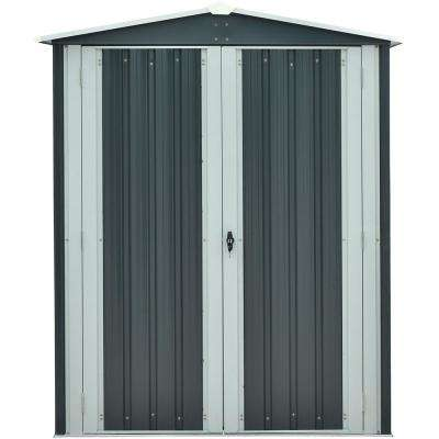 5 ft. x 3 ft. x 6 ft. Galvanized Steel Apex Patio Storage Shed
