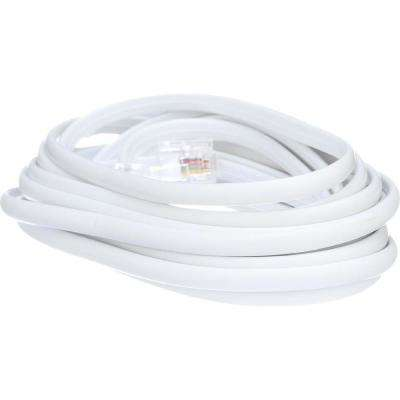 12 ft. 4-Wire Telephone Line Cord in White Telephone Connection Wiring on