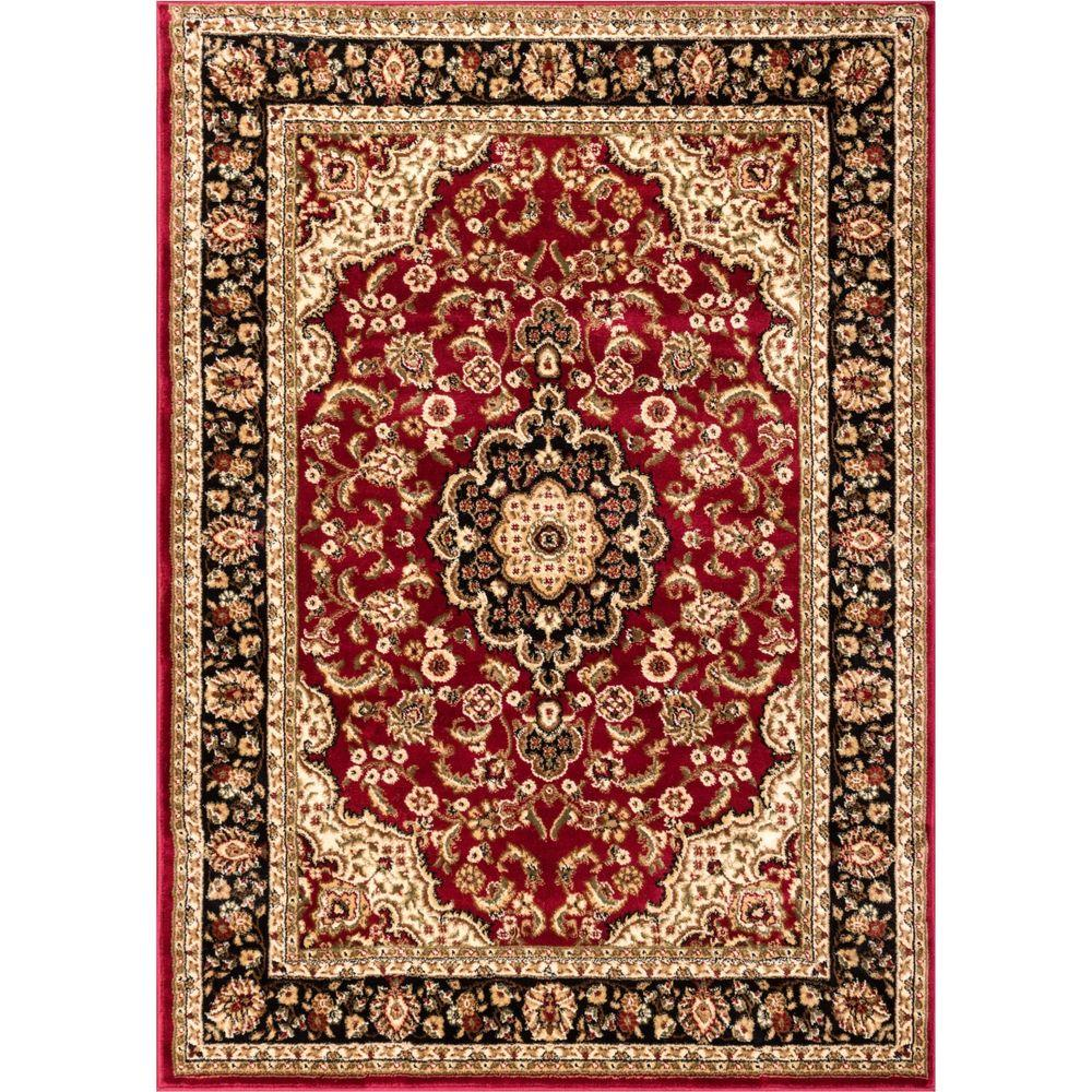 Barclay Medallion Kashan Red 4 ft. x 5 ft. Traditional Area