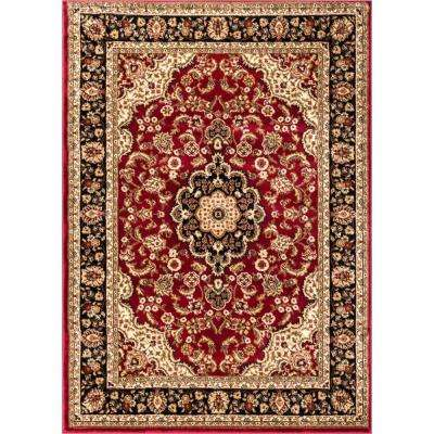 Barclay Medallion Kashan Red 9 ft. 3 in. x 12 ft. 6 in. Traditional Area Rug