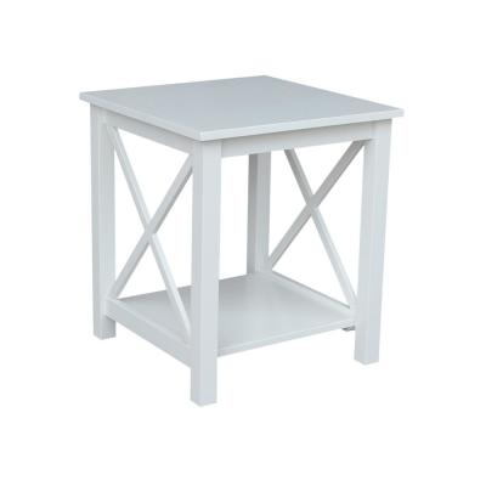 Hampton Pure White End Table