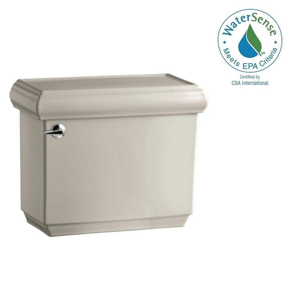 Memoirs 1.28 GPF Single Flush Toilet Tank Only with AquaPiston Flushing Technology in Sandbar