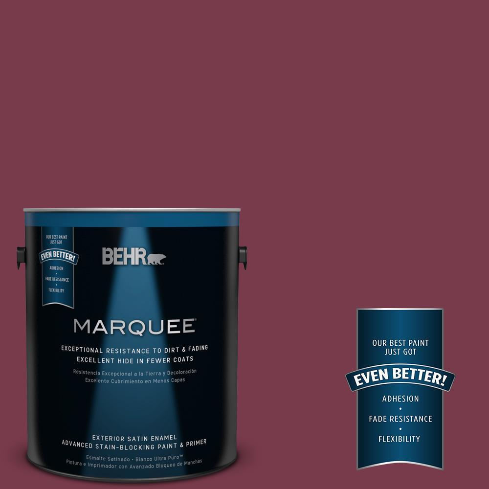 BEHR MARQUEE 1-gal. #BIC-51 July Ruby Satin Enamel Exterior Paint