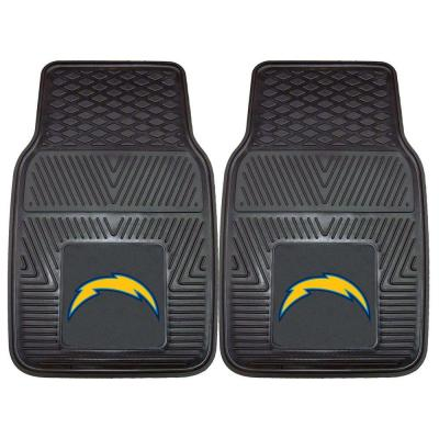 San Diego Chargers 18 in. x 27 in. 2-Piece Heavy Duty Vinyl Car Mat
