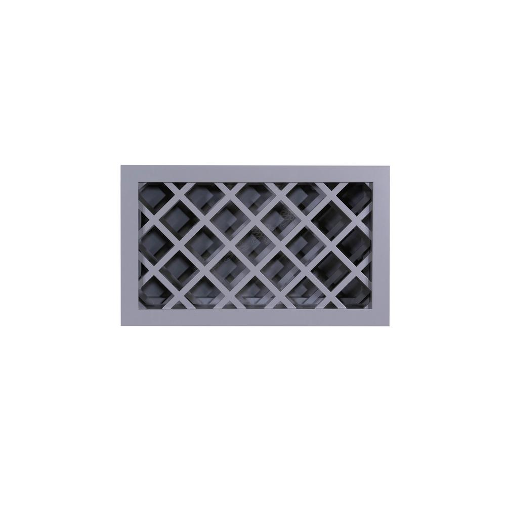 Lifeart Cabinetry Shaker Assembled 36x15x12 In Wall Wine Rack