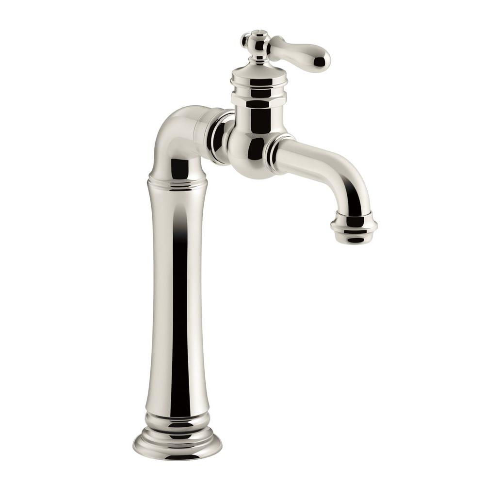 Artifacts 1 Handle Bar Faucet In Vibrant Polished Nickel