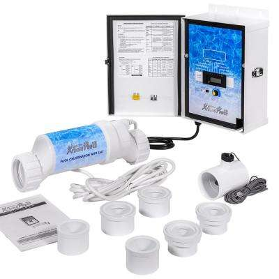 25,000 Gal. In-Ground Pool Salt Water Chlorine Generator Chlorinator System with Flow Switch and Salt Cell