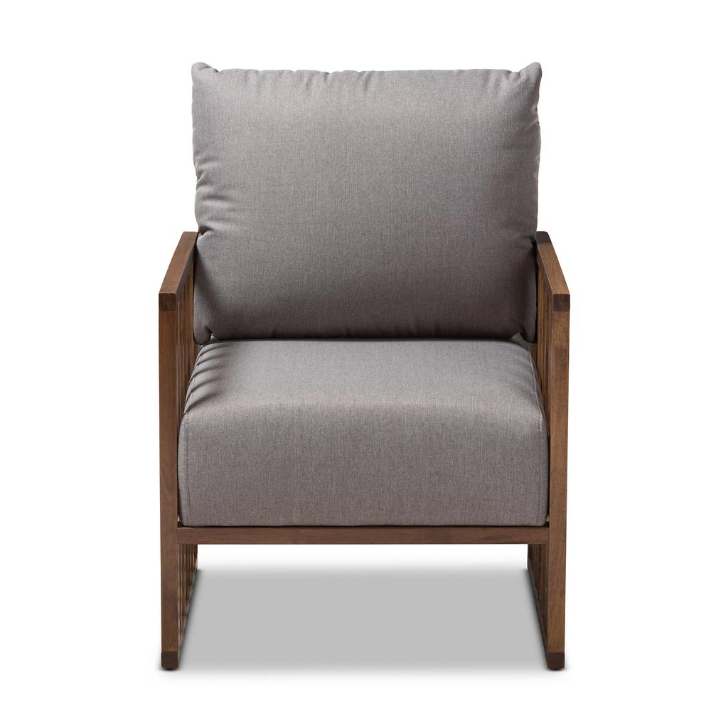 Rondel Gray Fabric Arm Chair