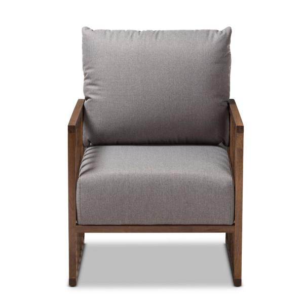Baxton Studio Rondel Gray Fabric Arm Chair