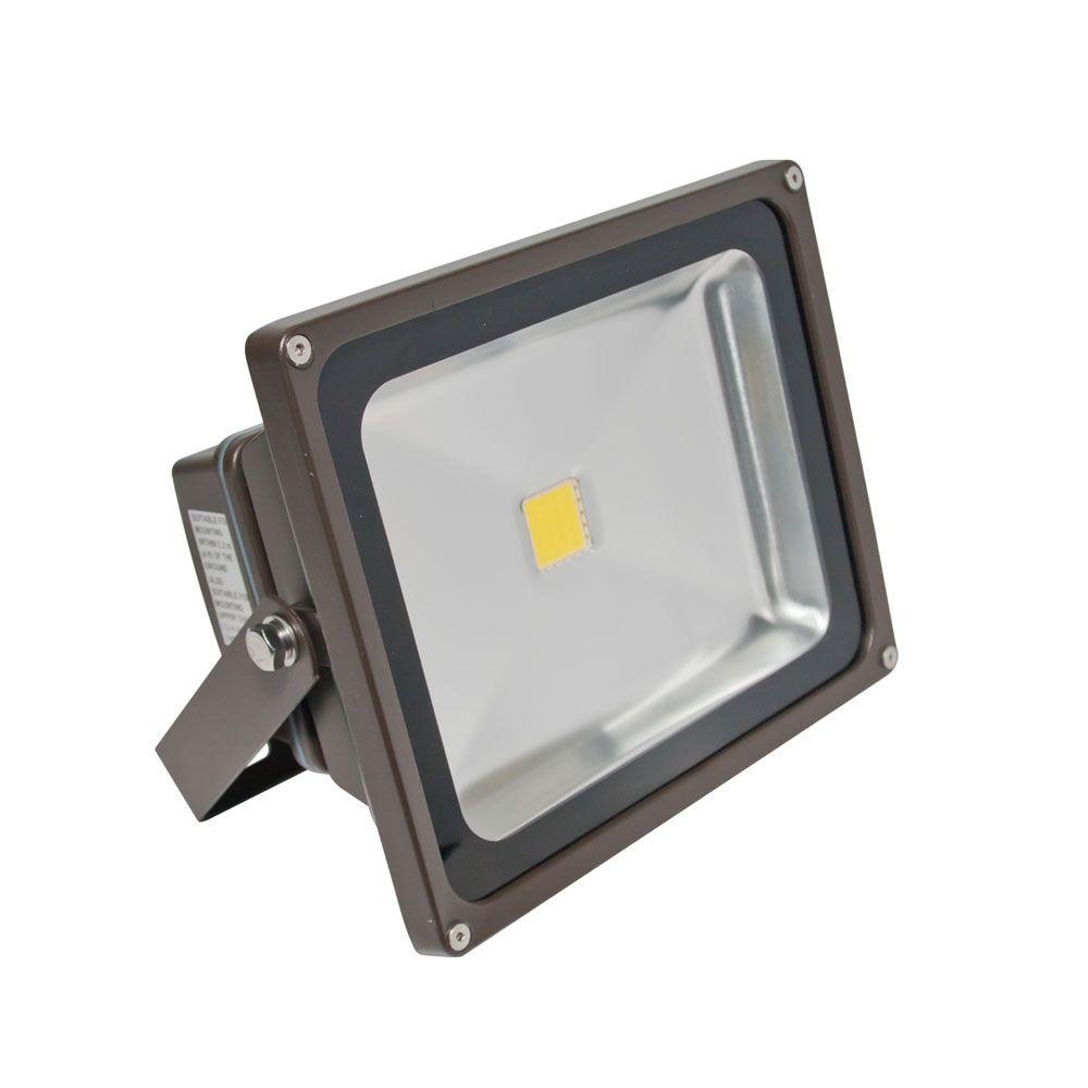 Irradiant 1-Head Bronze LED Soft White Outdoor Wall-Mount Flood Light