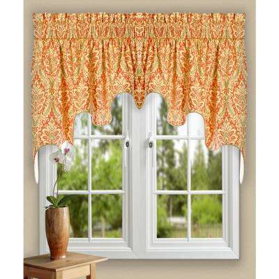 Donnington 30 in. L Cotton Lined Duchess Valance in Clay