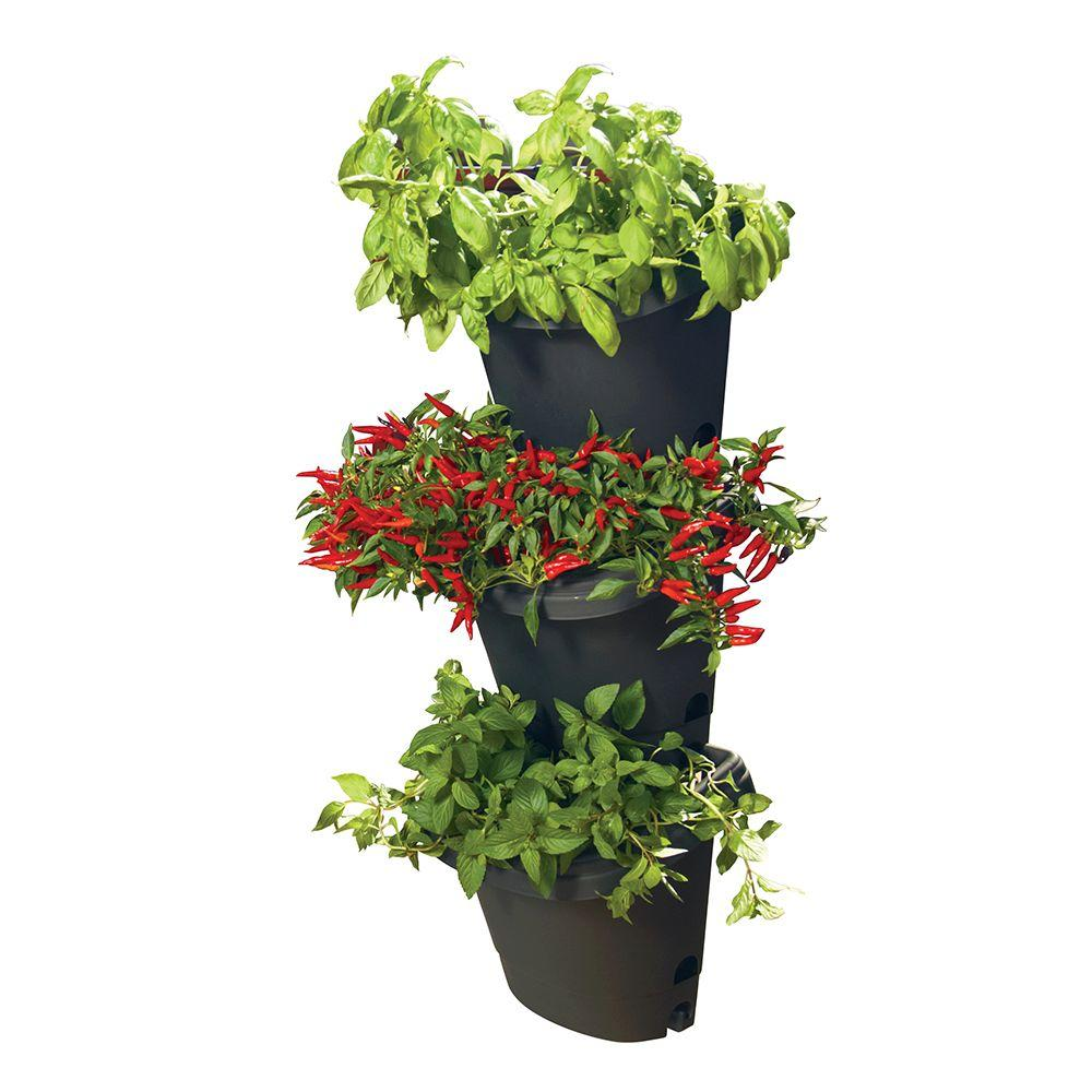 Hanging Garden Planter Kit (3 Pack) Black