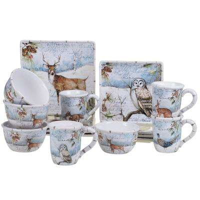 Winter's Lodge by Susan Winget 16-Piece Dinnerware Set
