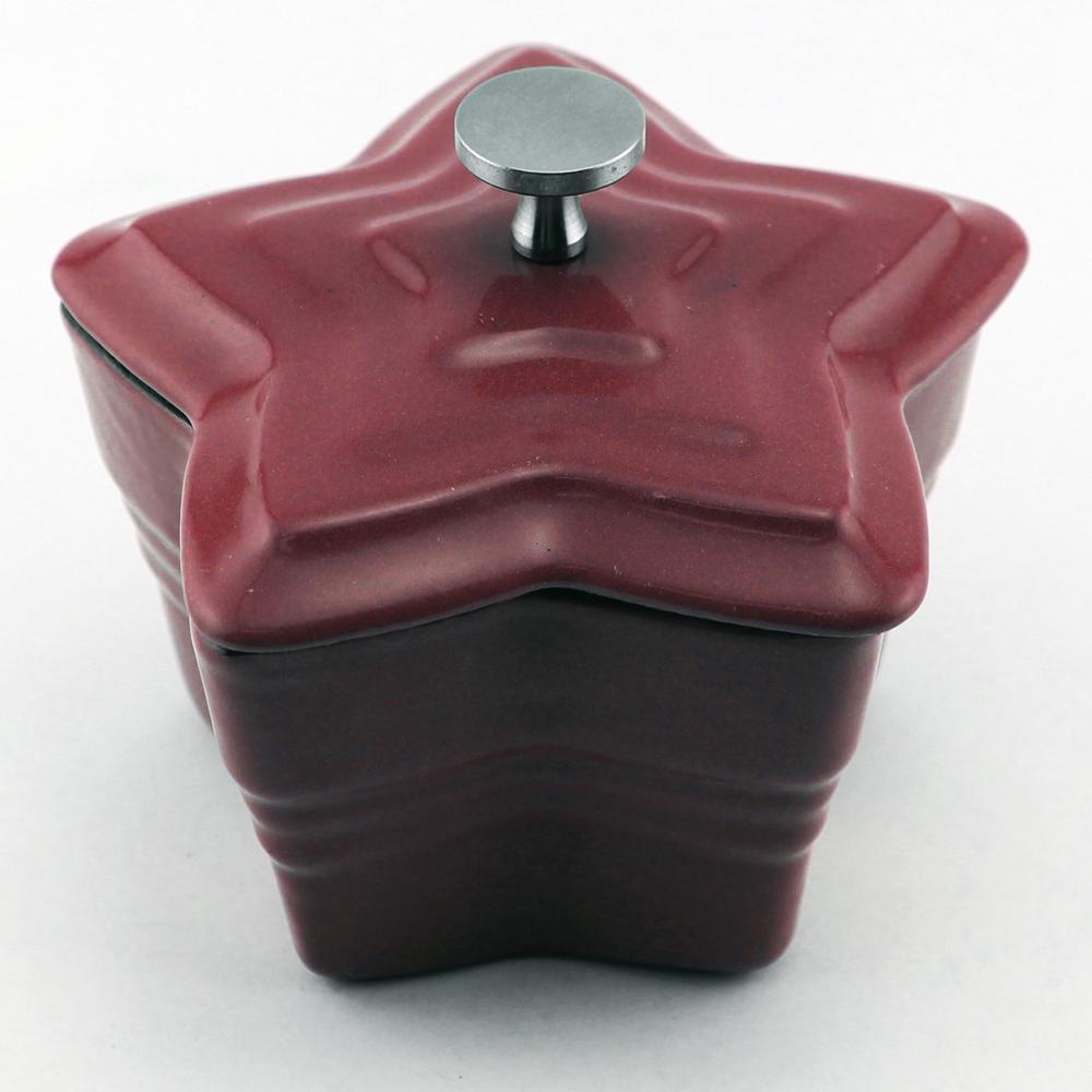 BergHOFF 0.25 Qt. Star Cast Iron Red Mini Casserole by BergHOFF