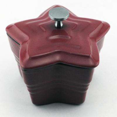 0.25 Qt. Star Cast Iron Red Mini Casserole