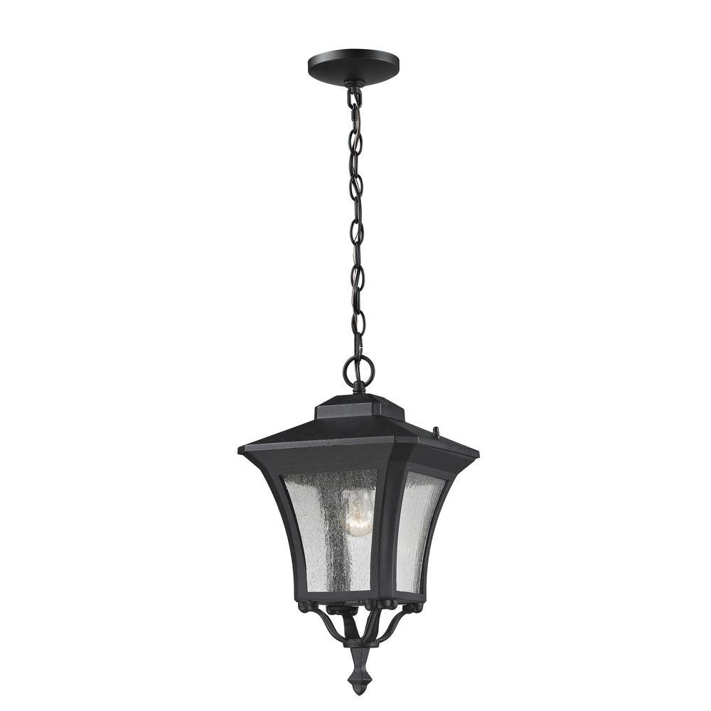 Lawrence 1-Light Sand Black Incandescent Outdoor Hanging Pendant