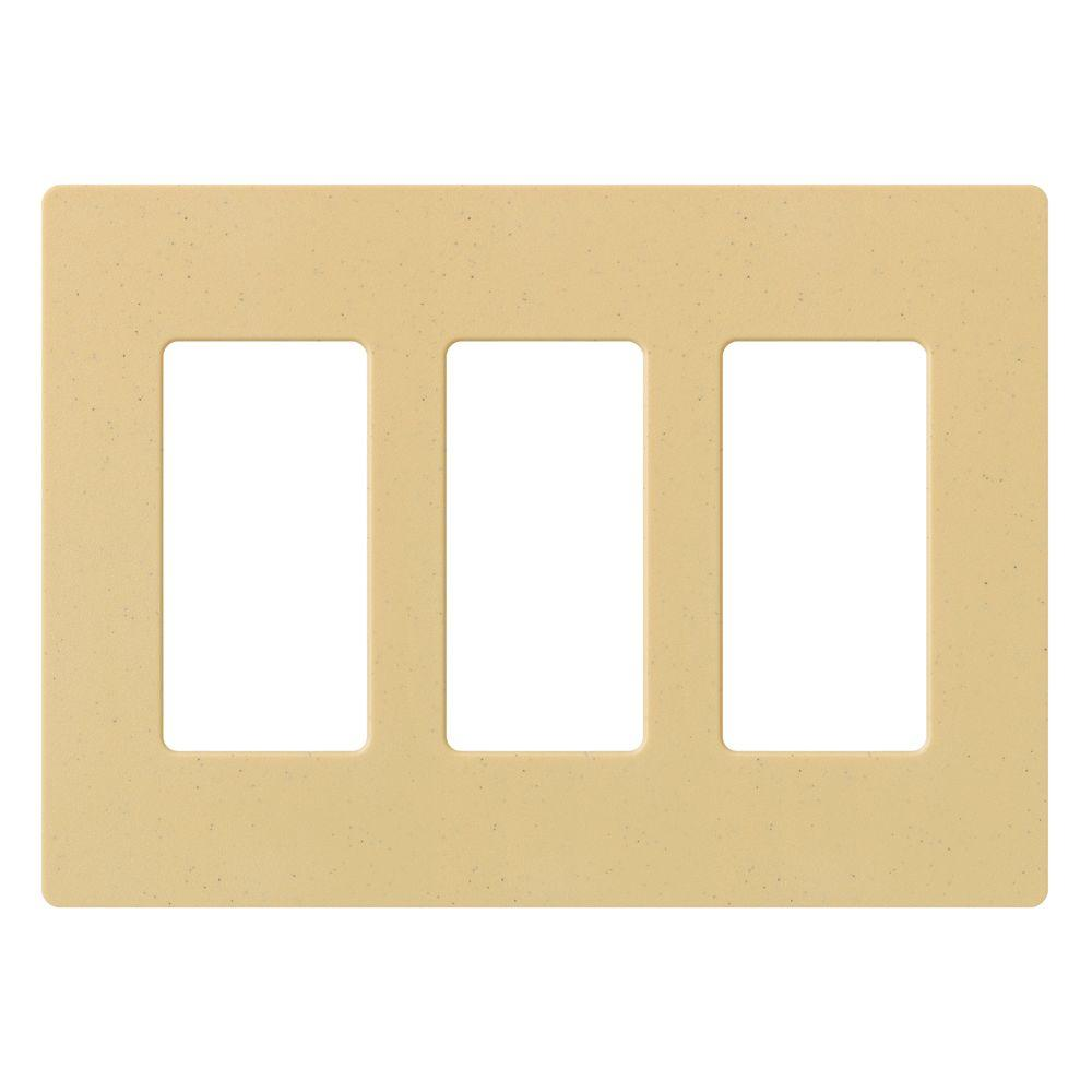 Claro 3 Gang Decorator Wallplate, Goldstone