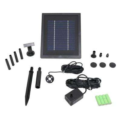 65 GPH Solar Pump and Panel Kit with Battery Pack and LED Light