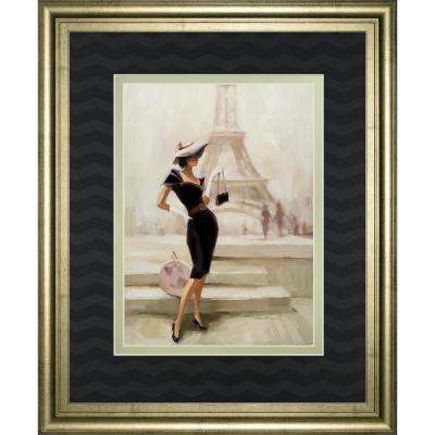 "34 in. x 40 in. ""Love From Paris"" by Steve Henderson Framed Printed Wall Art"