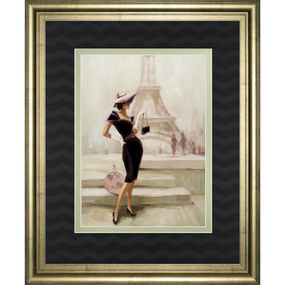 "Classy Art 34 in. x 40 in. ""Love From Paris"" by Steve Henderson Framed Printed Wall Art"