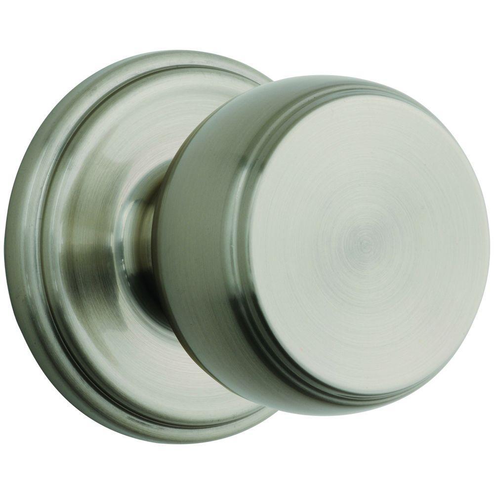 Brinks Ganyon Satin Nickel Passage Hall/Closet Push Pull Rotate Door ...