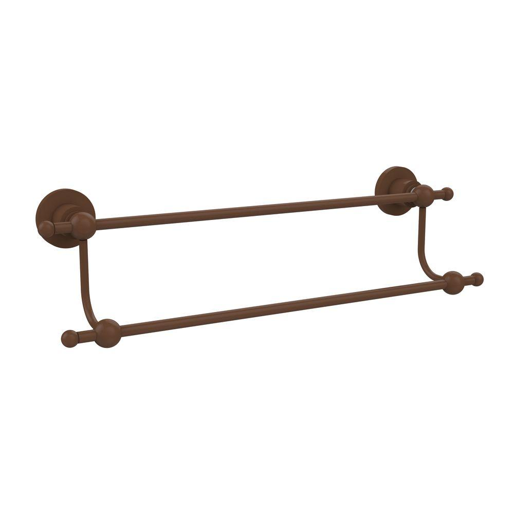 Astor Place Collection 24 in. Double Towel Bar in Antique Bronze