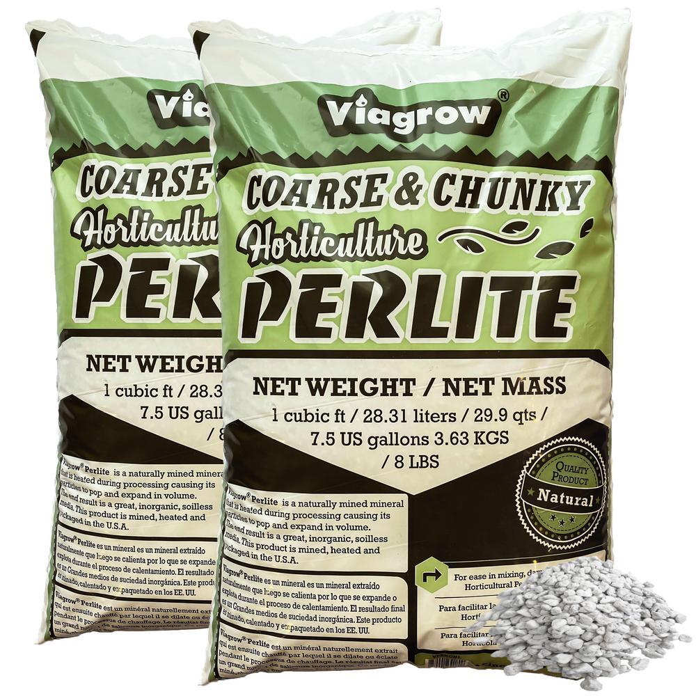 2 cu. ft. Perlite Coarse and Chunky Grade 59.8 Qt./56 L/15 Gal./7.26 Kg