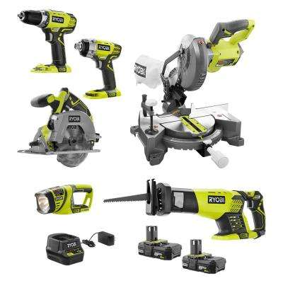 18-Volt ONE+ Cordless 6-Tool Combo Kit with (2) 2.0 Ah Compact Lithium-Ion Batteries and 18-Volt Charger
