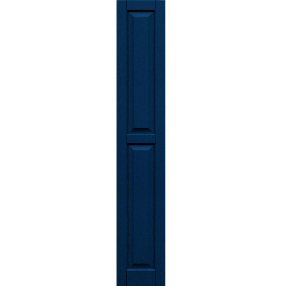 Winworks Wood Composite 12 in. x 72 in. Raised Panel Shutters Pair #637 Deep Sea Blue