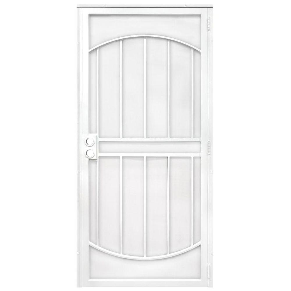 Unique home designs 32 in x 80 in arcada white surface - Unique home designs security screen doors ...