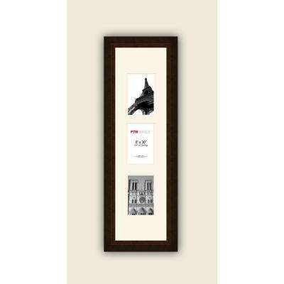 3-Opening Vertical 4 in. x 6 in. White Matted Bronze Photo Collage Frame