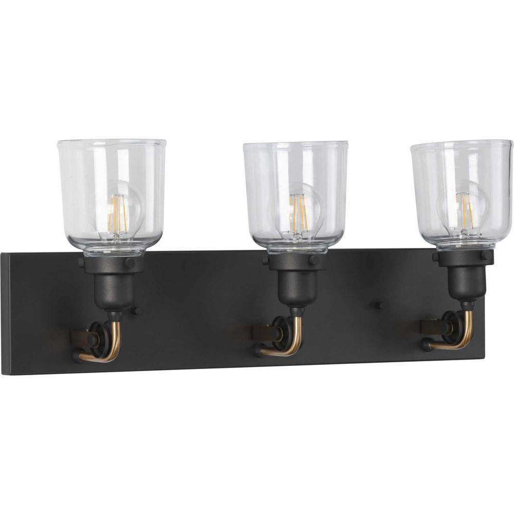 Rushton 3-Light Graphite Bath Light