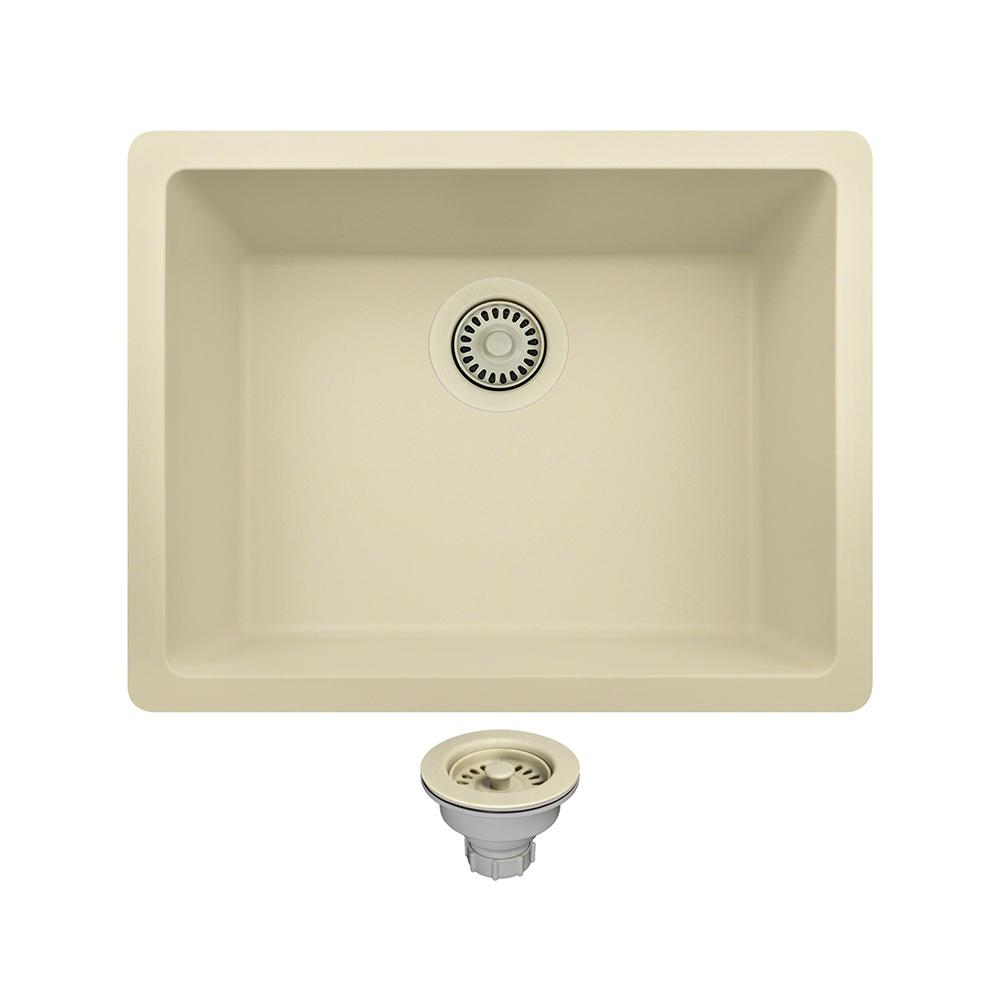 kitchen sinks direct mr direct all in one undermount composite 22 in single 3004