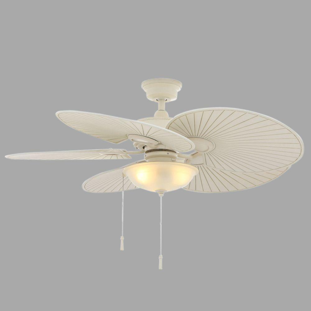 Havana 48 in. Indoor/Outdoor Vintage White Ceiling Fan with Light Kit