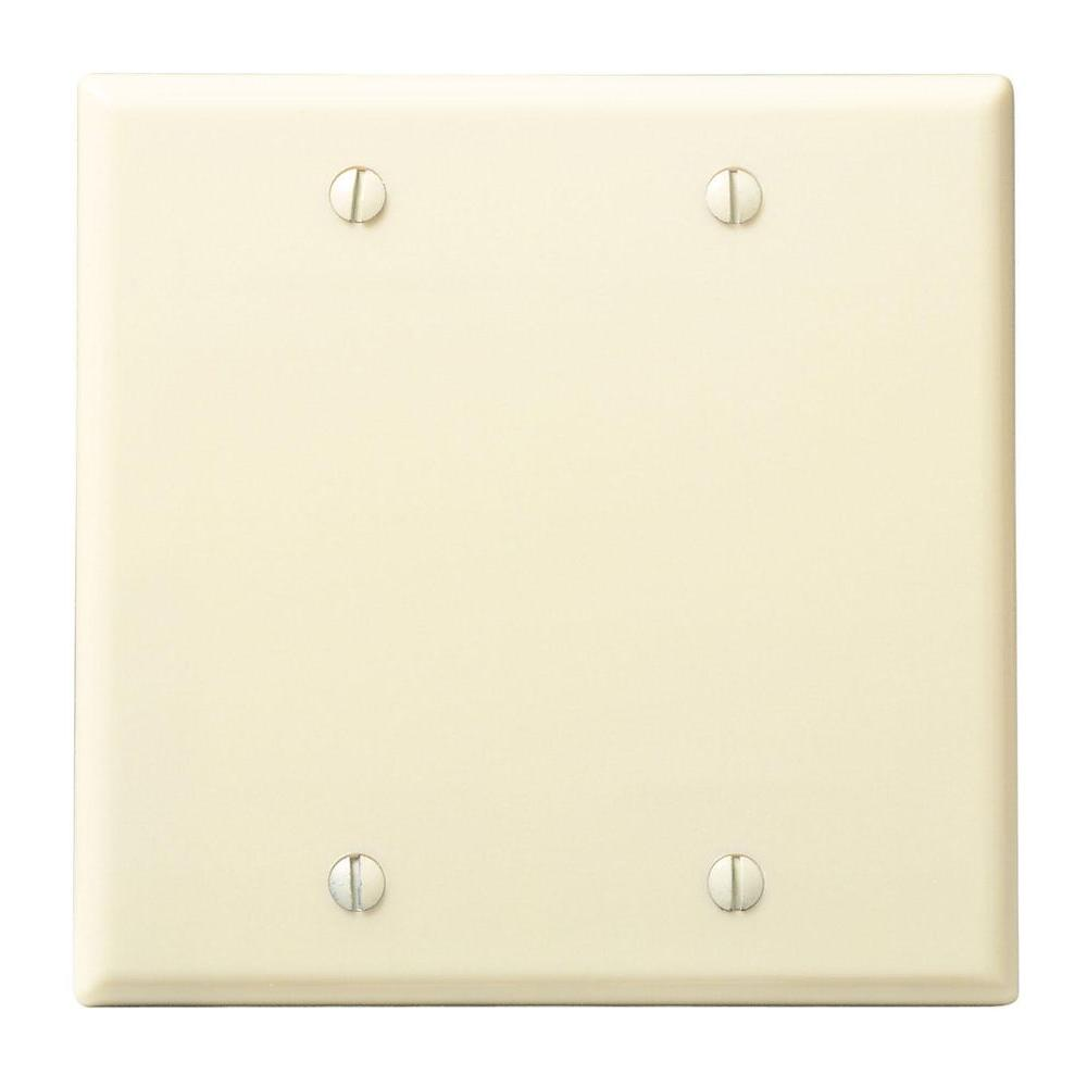 Black Wall Plates Jacks The Home Depot Leviton Light Almond Decora Triple Rocker Switch Triplex 2 Gang Blank Plate Ivory