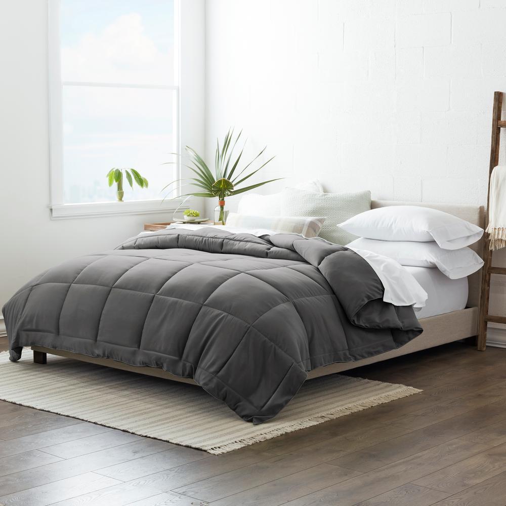 Performance Gray Solid King Comforter