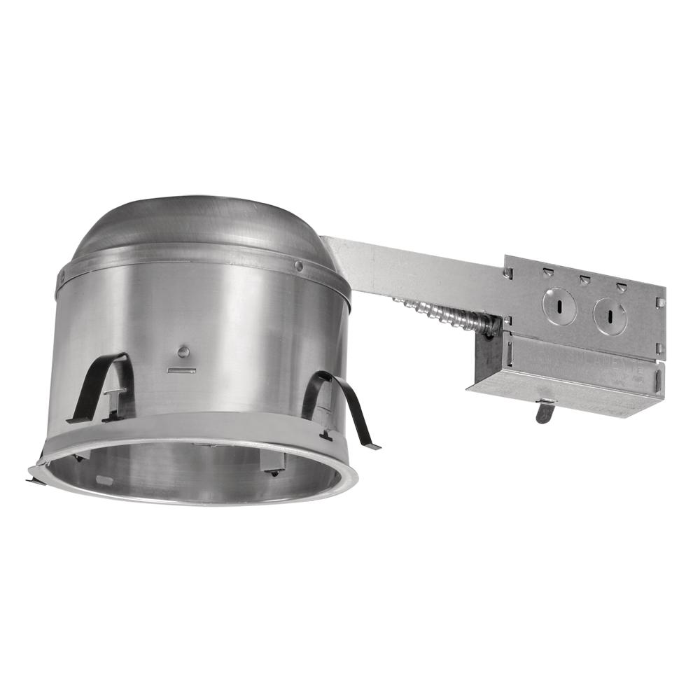 Halo H27 6 in. Aluminum Recessed Lighting Housing for Remodel Shallow Ceiling, Insulation Contact, Air-Tite