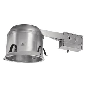 Halo H27 6 inch Aluminum Recessed Lighting Housing for Remodel Shallow Ceiling, Insulation Contact, Air-Tite (6-Pack) by Halo