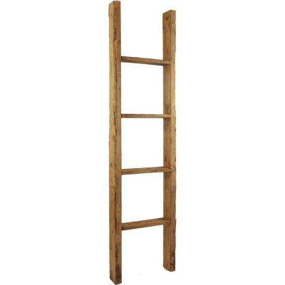 15 in. x 36 in. x 3 1/2 in. Barnwood Decor Collection Restoration Green Vintage Farmhouse 2-Rung Ladder
