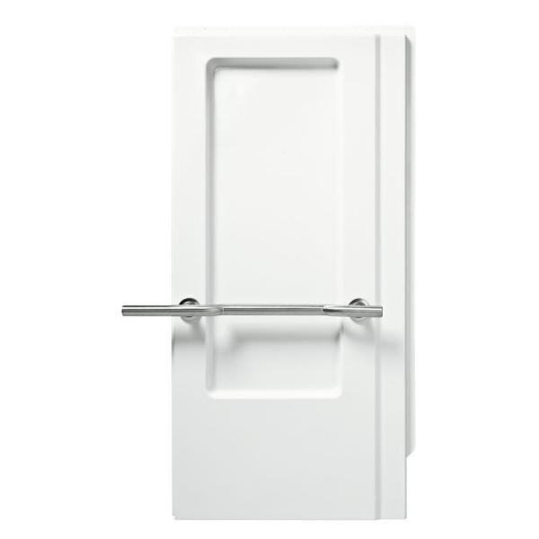 STERLING Roll-In 1-1/4 in. x 40-5/8 in. x 65-9/16 in. 2-piece Glue-Up Shower End Wall Set in White