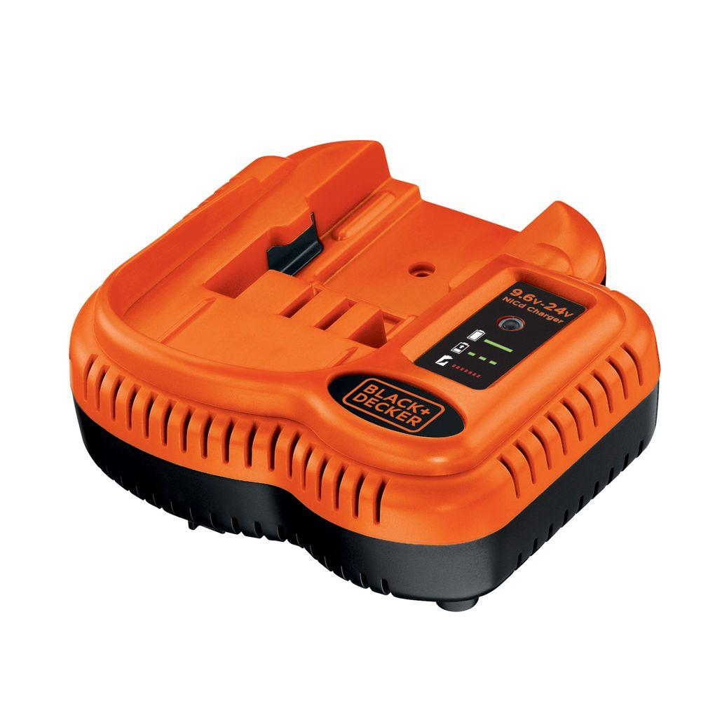 Fremragende BLACK+DECKER 9.6-Volt to 18-Volt Ni-Cad Battery Charger-BDCCN24 ZL55