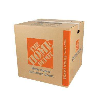 Heavy-Duty Extra-Large Moving Box with Handles (22 in. L x 22 in. W x 22 in. D)