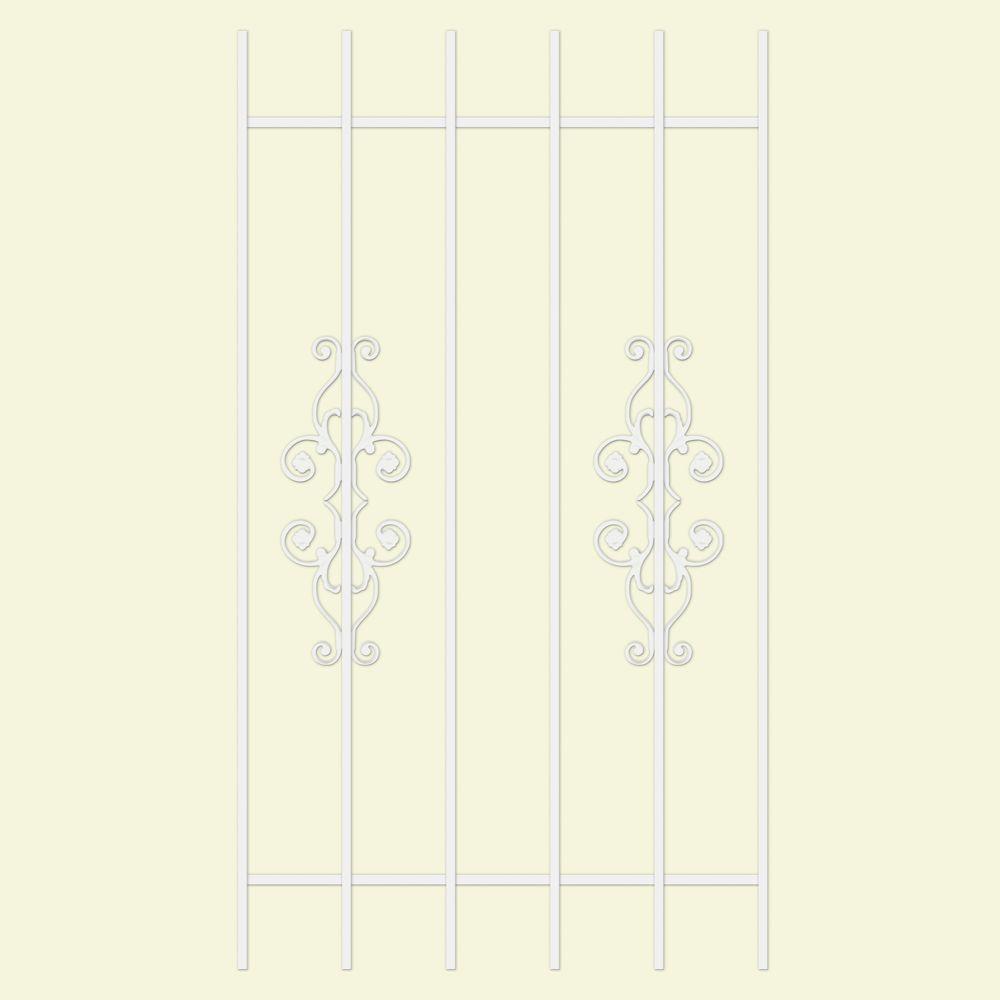 Unique Home Designs La Entrada 30 in. x 54 in. White 6-Bar Window Guard-DISCONTINUED