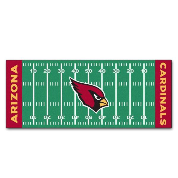 Arizona Cardinals 3 ft. x 6 ft. Football Field Rug Runner Rug