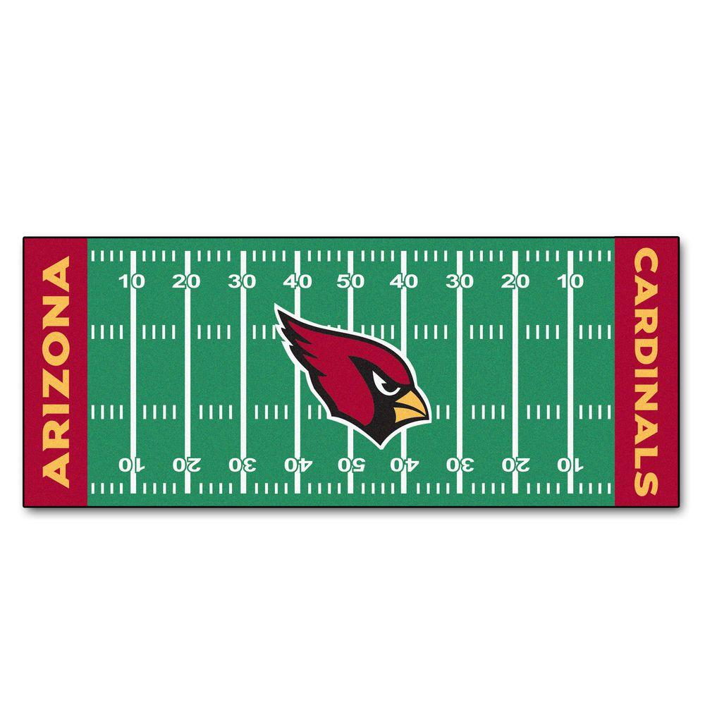 FANMATS Arizona Cardinals 2 Ft. 6 In. X 6 Ft. Football