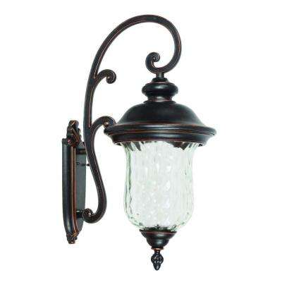 Sugar Pine Collection 3-Light Oil-Rubbed Bronze Outdoor Wall Mount Lamp