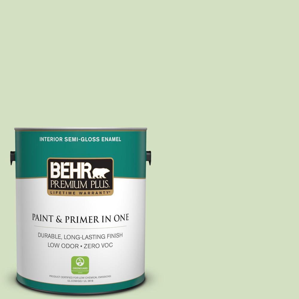 BEHR Premium Plus 1-gal. #P380-3 Irish Folklore Semi-Gloss Enamel Interior Paint