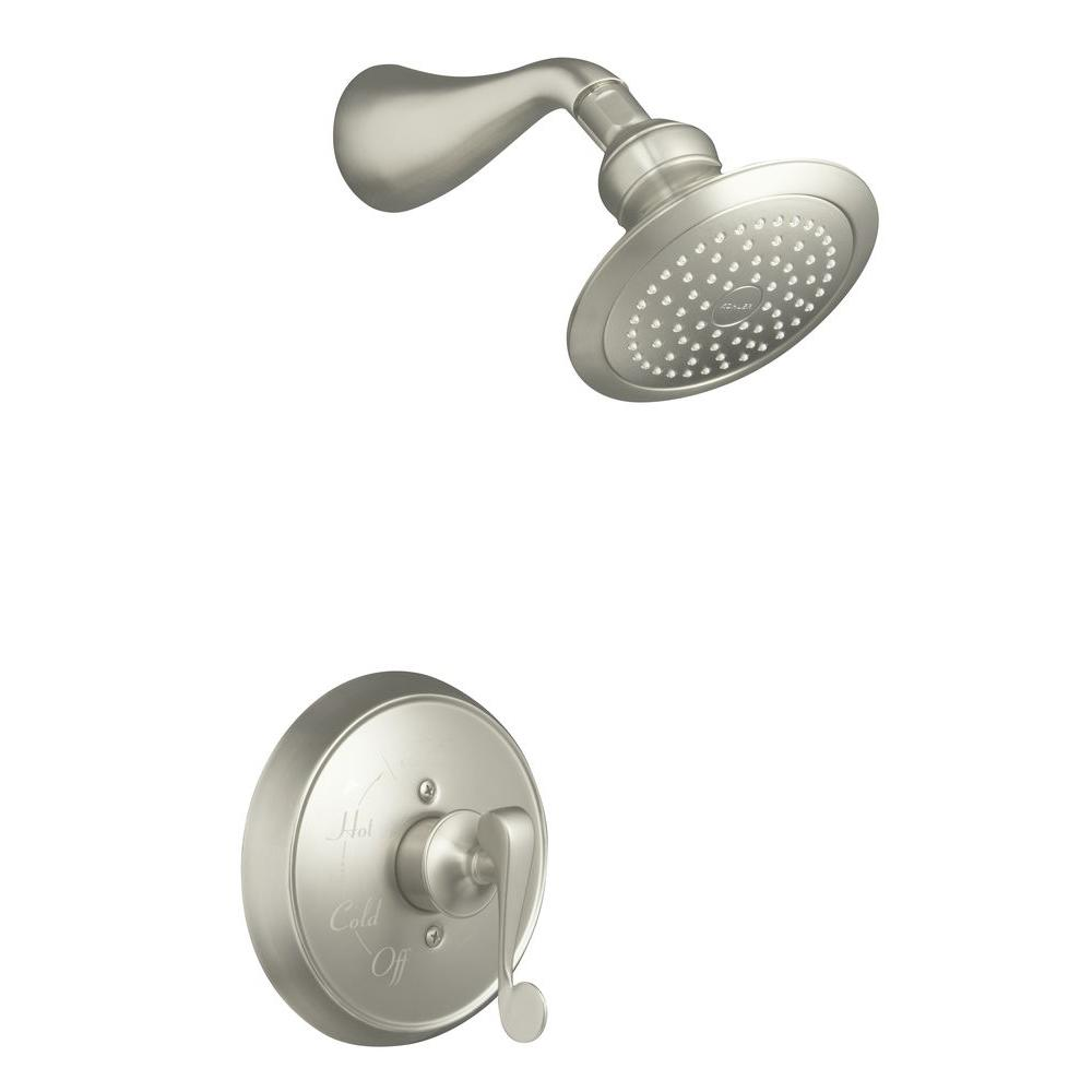 KOHLER Revival Shower Faucet Trim Only in Vibrant Brushed Nickel (Valve Included)